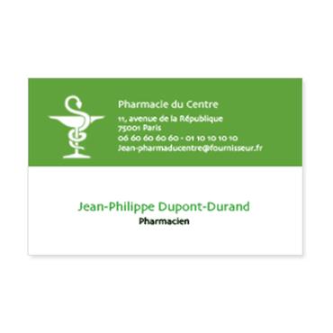 Cartes Visite Classique Personnalisable Pharmacie Caduce Sant