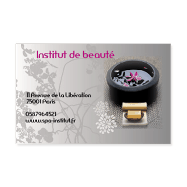 Cartes De Visite Petit Modele Zen Spa Et Institut Beaute