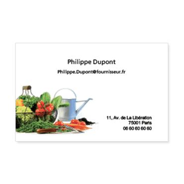 Cartes De Visite Classique Personnalisable Panier Legumes