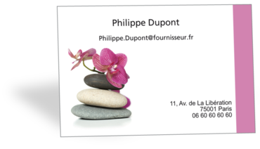 Cartes De Visite Classique Personnalisable Galets Orchidees Zen