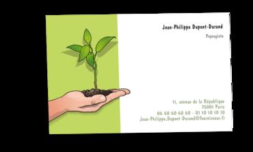 Grandes Cartes De Visite Personnalisable Paysagiste Jardinier
