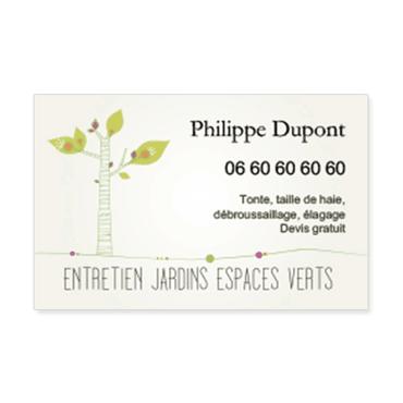 Cartes De Visite Classique Personnalisable Jardins Espaces Verts