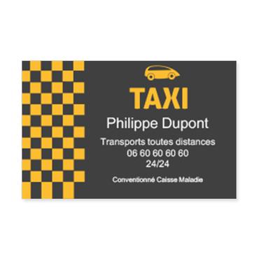 Personnalisez Votre Carte De Visite Facilement En Ajoutant Texte 2508 Taxi