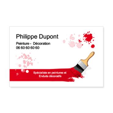 Cartes De Visite Classique Personnalisable Peintre Pinceau