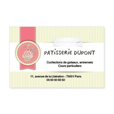 Cartes De Visite Classique Personnalisable Ptisserie Gteaux