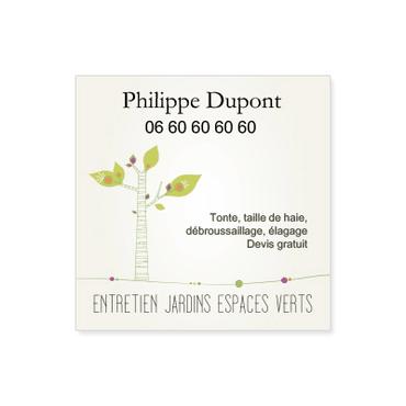 Cartes De Visite Carrees Personnalisable Jardins Espaces Verts
