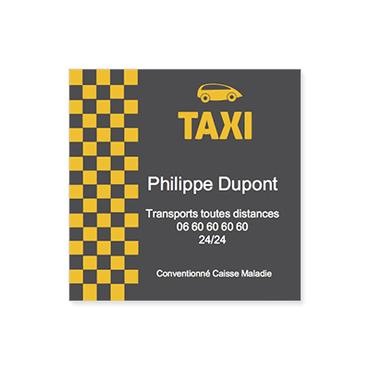 Cartes De Visite Carres Personnalisable Professionnelles Taxi
