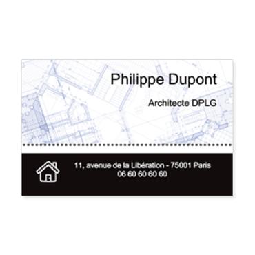 Cartes De Visite Classique Personnalisable Plan Architecture