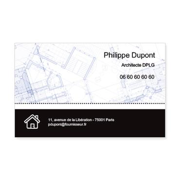 Grandes Cartes De Visite Personnalisable Plan Architecte