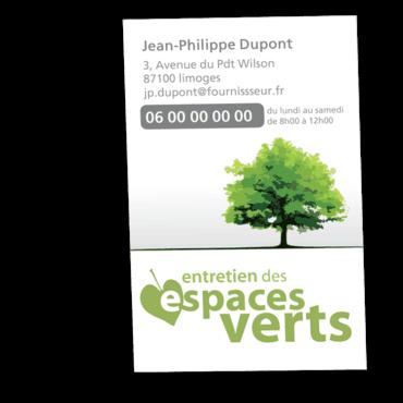 Cartes De Visite Classique Personnalisable Espaces Verts Arbre