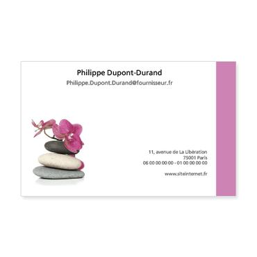 Grandes Cartes De Visite Personnalisable Zen Galets Orchidees