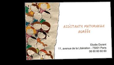 Cartes Visite Classique Personnalisable Assistante Maternelle