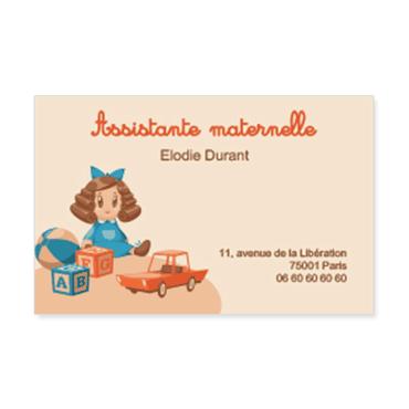carte de visite assistante maternelle Cartes visite personnalisable rétro assistante maternelle
