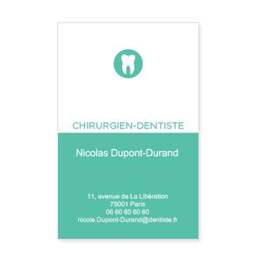 Cartes De Visite Classique Personnalisable Chirurgien Dentiste