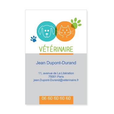 Cartes De Visite Classique Personnalisable Bicolore Vtrinaire