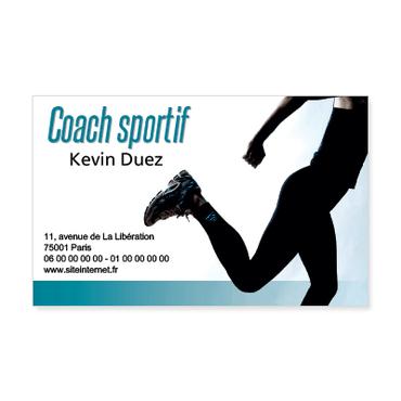 Grandes Cartes De Visite Personnalisable Coach Sportif