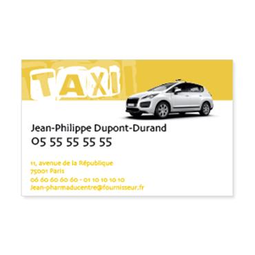 Cartes De Visite Classique Personnalisable Professionnelles Taxi
