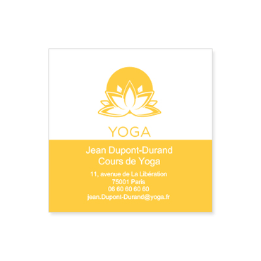 Cartes De Visite Carre Personnalisable Yoga Fleur Lotus