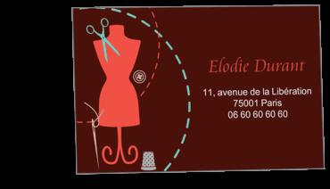 Cartes Visite Classique Personnalisable Confection Et Couture
