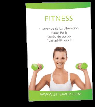 Cartes De Visite Classique Personnalisable Fitness