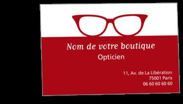 Cartes De Visite Classique Personnalisable Bicolore Opticien