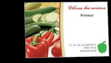 Cartes De Visite Classique Personnalisable Legumes Primeur