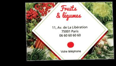Cartes De Visite Classique Personnalisable Fruits Et Legumes