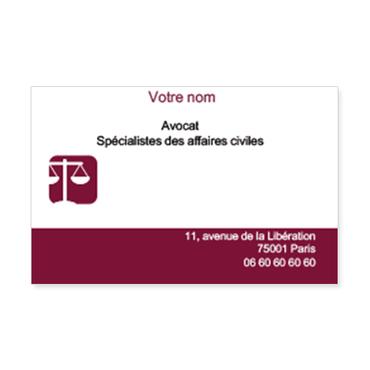 Bevorzugt Cartes de visite classique personnalisable balance avocat WQ81