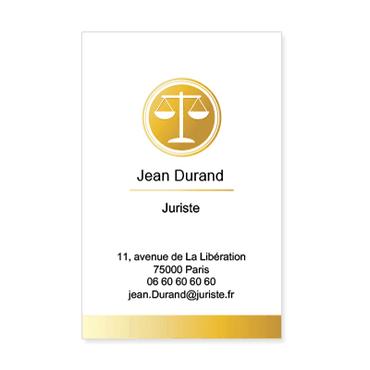 Carte De Visite Verticale Classique Personnalisable Juriste