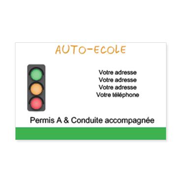 Cartes Visite Classique Personnalisable Auto Ecole Feu Tricolore