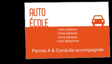 Cartes Visite Classique Personnalisable Voiture Auto Ecole