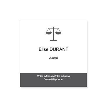 Cartes De Visite Carrees Personnalisable Juriste Et Droit