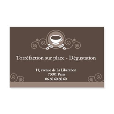 Cartes Visite Classique Personnalisable Torrefaction Arabesques