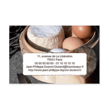 Cartes De Visite Classique Personnalisable Fromagerie Fromage
