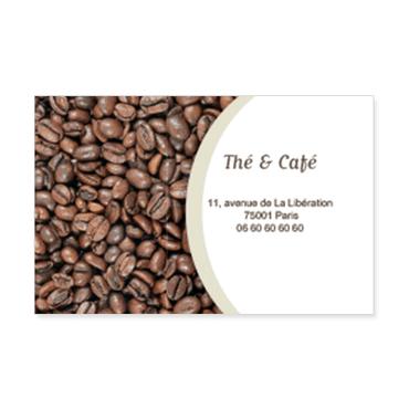 Cartes Visite Classique Personnalisable Torrefaction Cafe Elegant